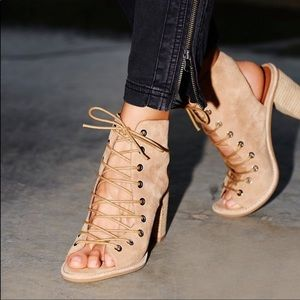 Jeffrey Campbell Free People Minimal Lace Up Heels